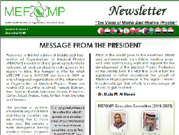 MEFOMP First Newsletter
