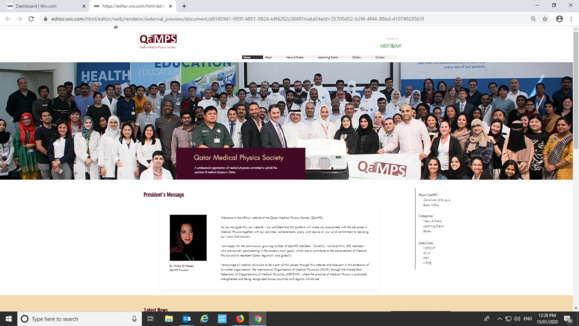 Qatar Medical Physics Society (QaMPS) Launches their Website