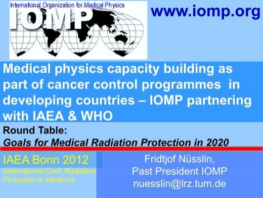 IOMP launching International Medical Physics Week
