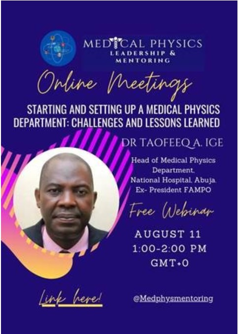 """Online Meeting """"Starting a Medical Physics Department"""""""