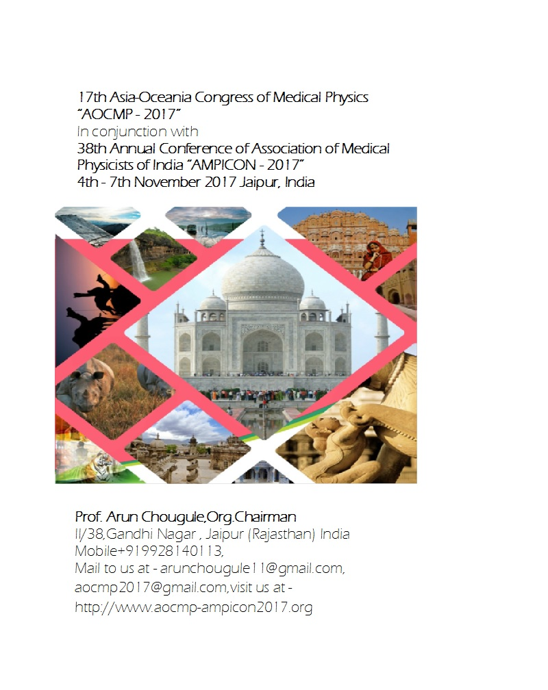 "17th Asia-Oceania Congress of Medical Physics ""AOCMP - 2017"""