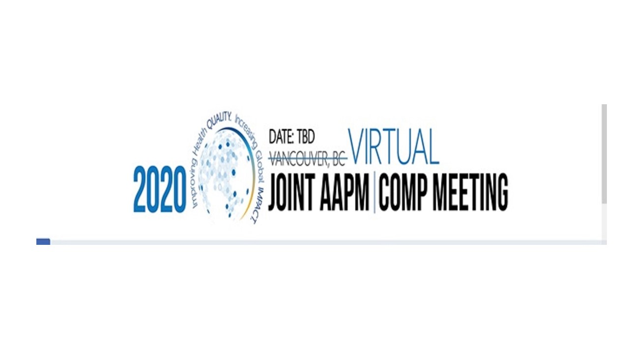 AAPM 2020 Meeting content into a virtual meeting