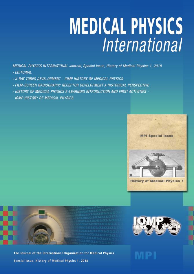 Special Issue, History of Medical Physics