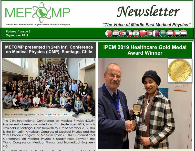 MEFOMP Sixth Newsletter