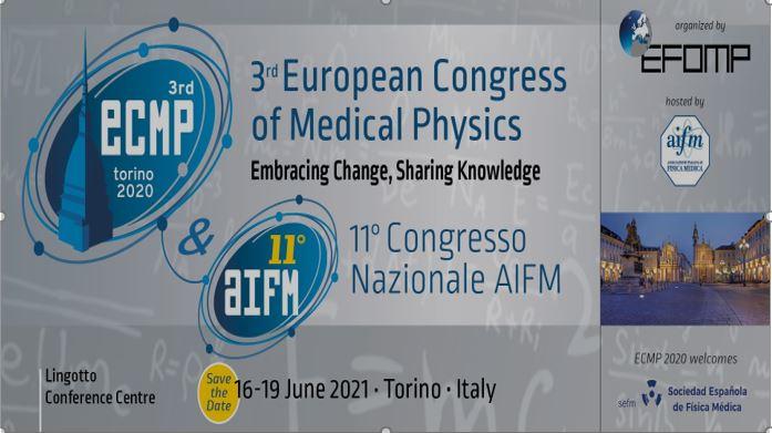 EFOMP - 3rd European Congress of Medical Physics in June 2021