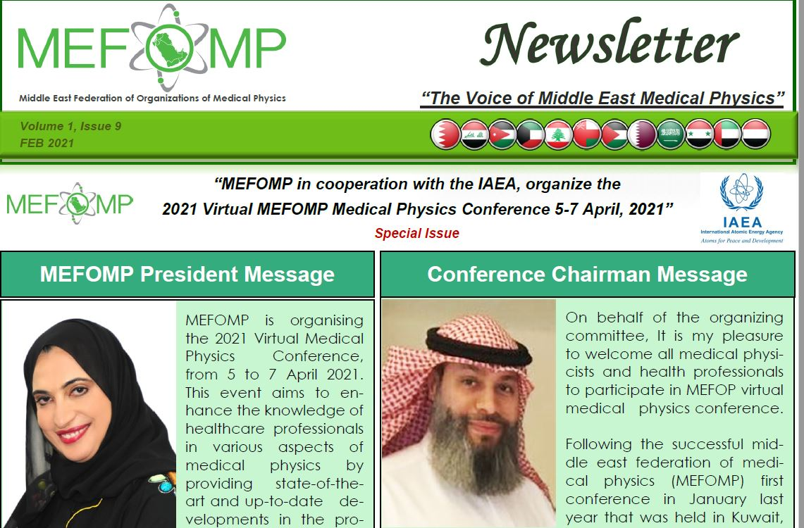 Special Issue of Newsletter about the Virtual MEFOMP Conference