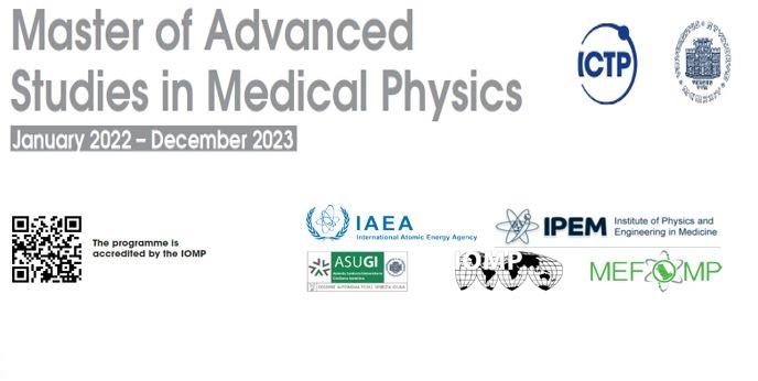 MEFOMP sponsored ICTP Master of Medical Physics