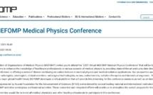 MEFOMP Conference publicized on EFOMP Website